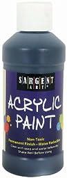 Sargent Art 22-2385 8-Ounce Acrylic Paint, Black