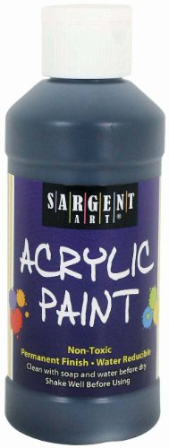 Sargent Art 22-2385 8-Ounce Acrylic Paint, Black