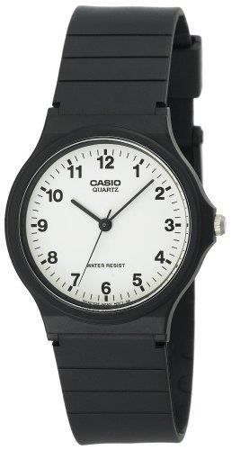 Casio Men's MQ24-7B Analog Black Resin Strap Watch