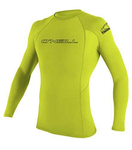 oneill-wetsuits-herren-uv-schutz-basic-skins-l-s-crew-lime-m-3342-187