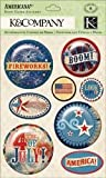 Americana Snow Globe Stickers