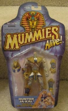 1997 Mummies Alive Hunter Ja-kal Powers up with Falcon Armor Action Figure