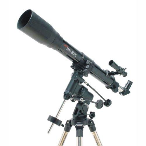 Kenko 天体望遠鏡 SKY WALKER NEW SW-III PC 屈折式 口径70mm 焦点距離700mm PC接続対応 赤道儀タイプ デジタルアイピース付属 120163