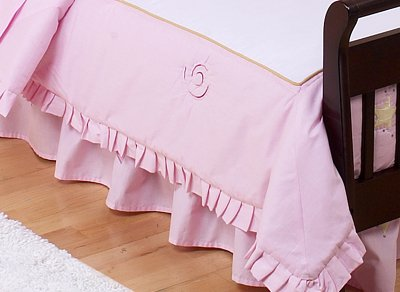 JoJo Designs Toddler Bed Skirt - Fairy Tale Fairies Pink