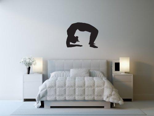 TheVinylGuru - Yoga Wall Decal Sticker - Sports Decoration Mural - 54 in. Black discount price 2016