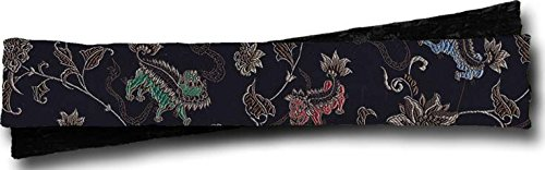 Candi Andi - Ergonomic Keyboard Wrist Rest Pad - Dual Sided Satin Brocade & Crushed Velvet - Lavender Scented - Fu Dog Woof