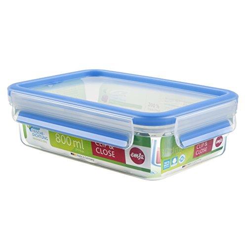 emsa-508539-boite-alimentaire-rectangulaire-avec-couvercle-08-litre-transparent-bleu-clip-close