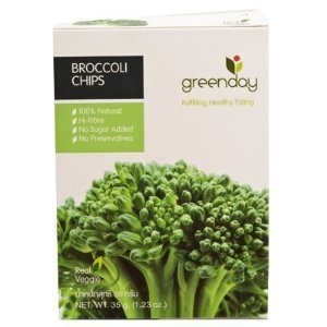 Greenday Broccoli Chips,Thai Snack,Healthy Snack,Real Vegetable 1.23 Oz.(35 G.) Product Thailand front-640359