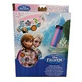 Disney - Disney WD92075D Caja de 3 brazaletes Frozen con 18 accesorios