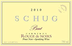 2010 Schug Rouge De Noirs, Carneros, Sparkling Pinot 750 mL