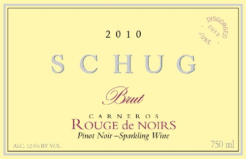 Schug 2010 Rouge De Noirs, Carneros, Sparkling Pinot
