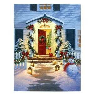 "Raz Imports 39568 - 20"" X 16"" X 1"" - ""Doorway"" Battery Operated Led Lighted Canvas (Batteries Not Included)"