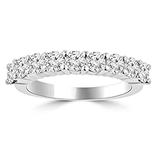 1.50 ct Bag1.00 ct Ladies Round Cut Diamond Wedding Band in Platinum In Size 14.5