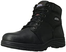 Skechers for Work Men\'s Workshire Relaxed Fit Work Boot,Black,8 M US