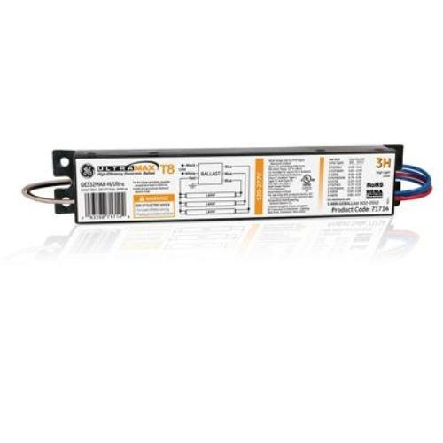 Ge Lighting 78619 Ge332Max-H/Ultra 120/277-Volt Ultramax Electronic Fluorescent T8 Multi-Volt Instant Start Ballast 3 Or 2 F32T8 Lamps