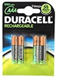 4 x Duracell AAA 1000 mAh SUPREME Rechargeable Batteries 950 LR03 HR03 DC240