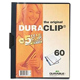 Durable - 8 Pack - Vinyl Duraclip Report Cover W/Clip Letter Holds 60 Pages Clear/Navy \