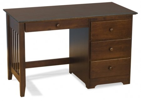 Buy Low Price Comfortable Windsor Collection Wood Computer Desk in Antique Walnut (B005EHRNTA)
