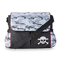 Black Messenger Diaper Bag - Camouflage / Skull by Tender Kisses