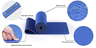 """UnBison Eco Friendly Yoga Mat 24""""W 72""""L 6mm Thick Free Carry Strap Included TPE Material 100% Satisfaction Guarantee."""