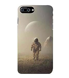 HiFi Designer Phone Back Case Cover Apple iPhone 7 Plus :: Apple iPhone 7+ ( Astronaut Space Man Walk Green Grass Walk )