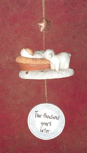 Lifesighs Baby And Lamb Christmas Ornament