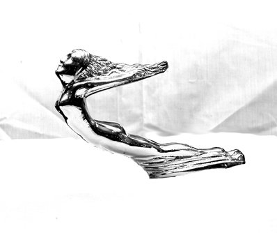 Great DEAL-FLYING LADY, Goddess-Die Cast Chrome Plated AUTO Hood Ornament!!!