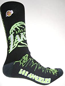 For Bare Feet Los Angeles Lakers City Lights Sock Multi-Color 0 by For Bare Feet