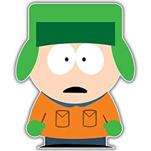 "South Park Kyle car bumper sticker decal 4"" x 5"""