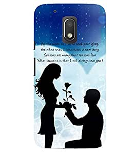 Evaluze LOVE Printed Back Cover for MOTO G4 PLAY