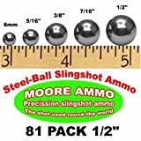 81 pack 1/2' Steel-Ball slingshot ammo (1-1/2 lbs)