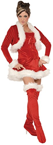 Underwraps Womens Ms. Claus Red Bustier Skirt Christmas Holiday Party Costume