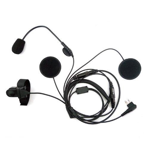 Open/Half Face Motorcycle Bike Helmet Earpiece Headset Mic Microphone For 2 Pin Motorola Radio Xtn446 Xtn500 Xtn600 Xv1100 Xv2100 Etc.