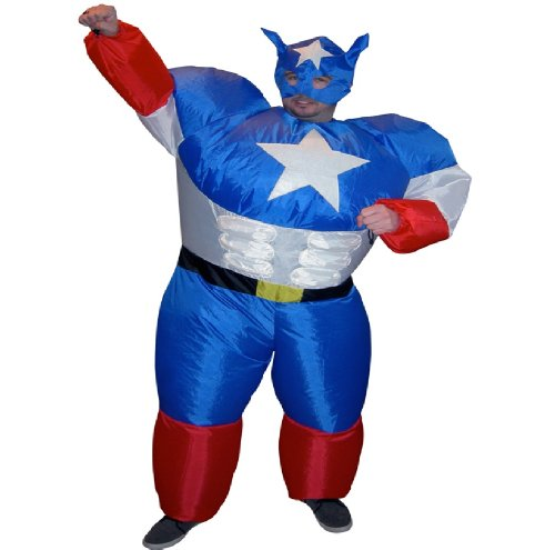 Inflatable Party Suit - Fancy Dress Costume (Superhero)