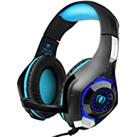 DIZA100 D4000 Over-Ear 3.5mm Wired Gaming Headphones (Blue)