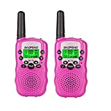 BaoFeng BF-T3 Kids Walkie Talkies Mini Two Way Radios for Boys Girls Children Toddlers Long Range UHF 462-467MHz Frequency 22 Channels (2 Pack, Pink)