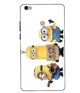 Snazzy Minions Printed Yellow Hard Back Cover For Xiaomi Redmi MI MAX