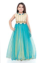 BETTY Girl's Gown (E5073 Blue-9_10 Years)