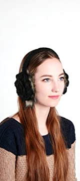 VINTAGE FAUX FUR EARMUFF BLACK