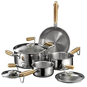 Heuck Zeroca Prestige Stainless Steel Carbon Neutral Cookware Set, 7-Piece
