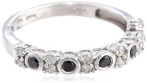 (1.9折)Amazon Curated Black and White Diamond 2/5克拉钻戒$50.62,