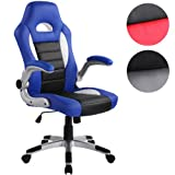 Miadomodo® BDS23 Faux Leather Swivel Office Chair DIFFERENT COLOURS (Blue)