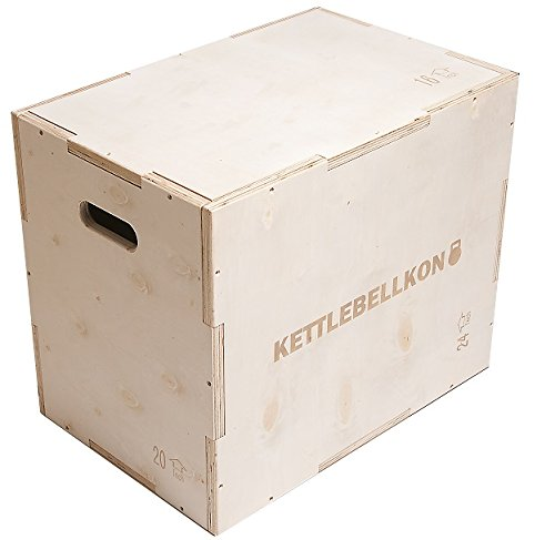 KETTLEBELLKON(ケトルベル魂)ウッドプライオメトリックスボックス(ジャンプボックス)3 in 1 (16/20/24)