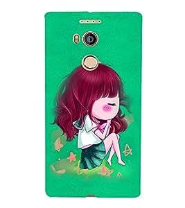 Fuson Premium Cute Sleeping Doll Printed Hard Plastic Back Case Cover for Gionee Elife E8