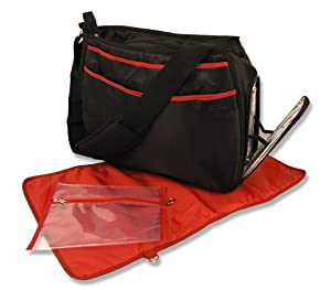 Best Seller Black/Brick Red Ultimate Diaper Bag (Item# 104597)