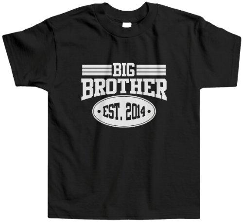 Threadrock Little Boys' Big Brother 2014 Toddler T-Shirt 2T Black front-1038442