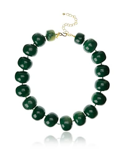 Kenneth Jay Lane Green Bead Necklace