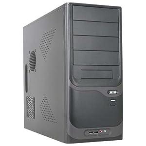 APEX PC-375 ATX Mid Tower 300W 4 1 (4) Bays USB Audio FAN C2D System Cabinet - Black