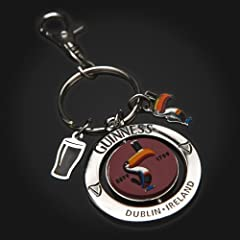 Guinness Toucan PVC Spinner Keyring