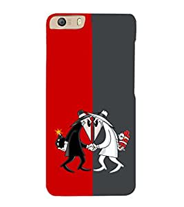 EPICCASE Mysterious Detectives Mobile Back Case Cover For Micromax Canvas Knight 2 E471 (Designer Case)